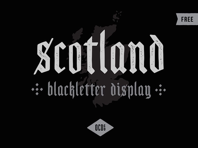 Scotland - 28+ Excellent 100% Free Blackletter Fonts [year]