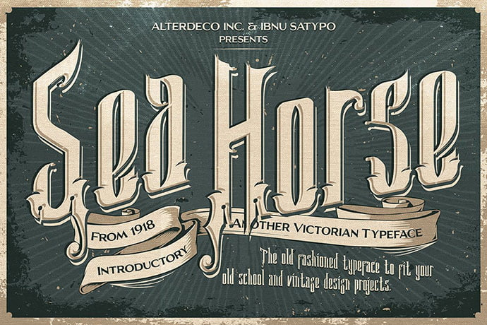 Sea-Horse - 38+ Beautiful Fonts For Graphic Design [year]