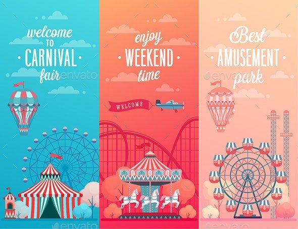 Set-of-Amusement-Park - 35+ Nice 100% Free Web Carousel Design Sample [year]