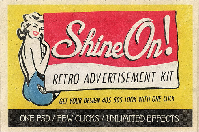 Shine-On - 33+ Nice Retro Vintage Photoshop Text Effects [year]