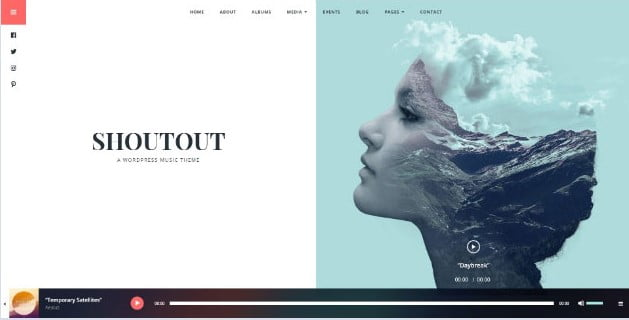 ShoutOut - 33+ Awesome Music Blog Responsive WordPress Themes [year]