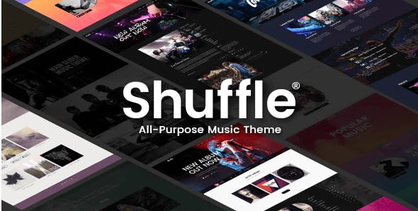 Shuffle - 33+ Awesome Music Blog Responsive WordPress Themes [year]