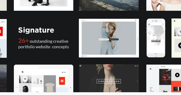 Signature-1 - 37+ Awesome Actors WordPress Themes [year]