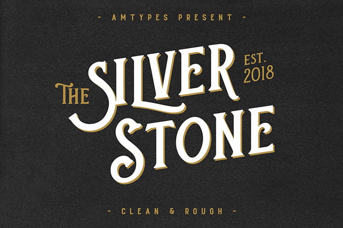 Silver-Stone - 38+ Beautiful Fonts For Graphic Design [year]