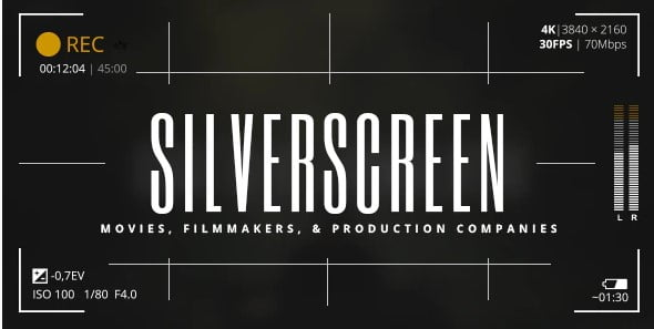 Silverscreen - 37+ Awesome Actors WordPress Themes [year]
