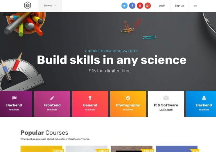Skilled - 35+ Impressive WordPress Online Course Themes [year]