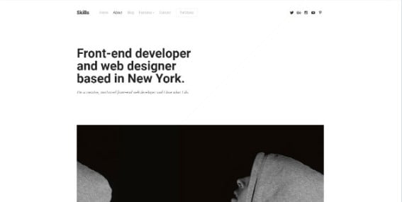 Skills - 33+ Creative WordPress Themes With About Me Page [year]