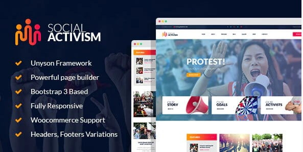 Social-Activism - 35+ Awesome WordPress Government Themes [year]