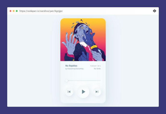 Soft-Ui-Music-Player - 38+ BEST Free CSS Neomorphic UI Design IDEA [year]