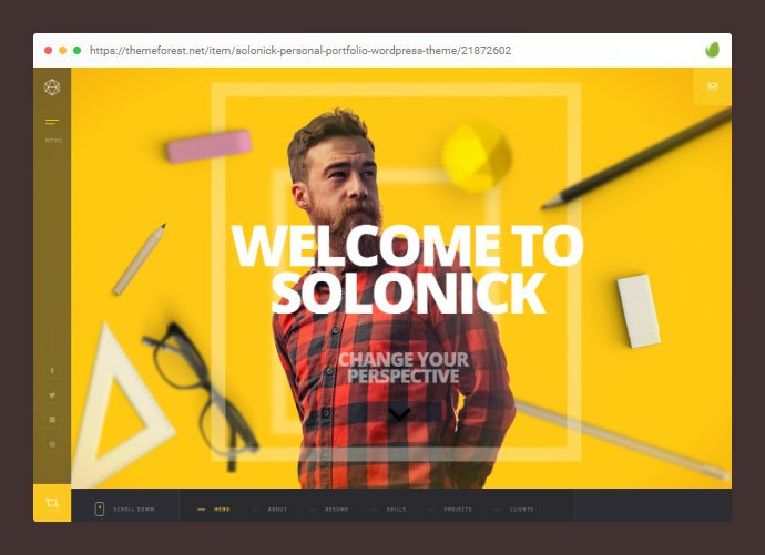 Solonick - 28+ Amazing Tattoo Artist WordPress Themes [year]