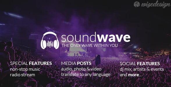 SoundWave - 36+ Amazing WordPress Radio Station Themes [year]