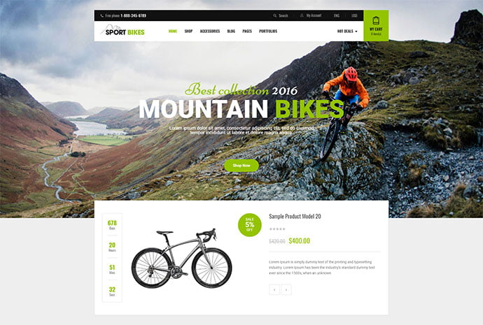 Sportbikes - 33+ Lovely Outdoor Gear WordPress Themes [year]