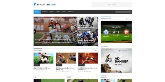 Sportsline - 42+ Amazing Sport Magazine WordPress Themes [year]