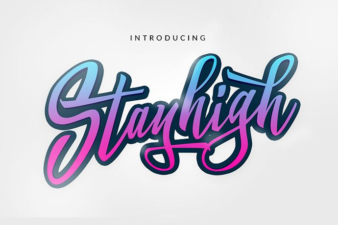 Stay-High - 53+ Nice T-shirt Design Hand Lettering Fonts [year]
