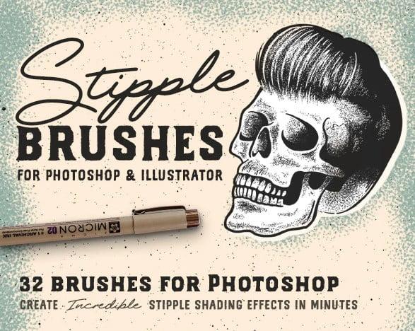 Stipple-Brush - 43+ Amazing BEST Free Photoshop Brush Sets [year]