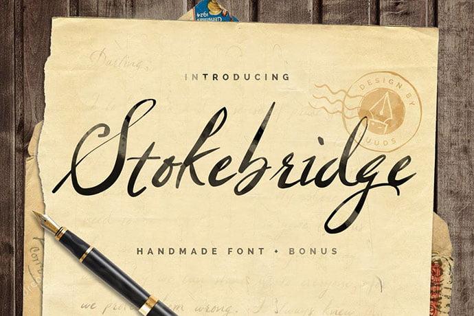 Stokebridge-1 - 53+ Nice T-shirt Design Hand Lettering Fonts [year]