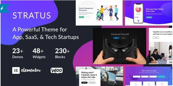 Stratus - 33+ Responsive WordPress SAAS Themes [year]