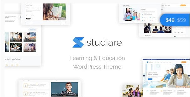 Studiare-1 - 35+ Impressive WordPress Online Course Themes [year]