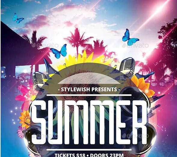 Summer - 38+ Awesome BEST Free Organic Shapes Poster Design [year]