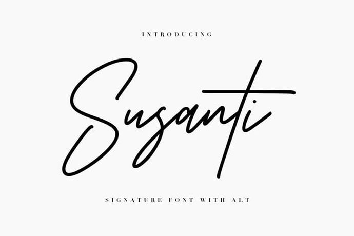 Susanti - 38+ Attractive Handwriting & Signature Fonts [year]