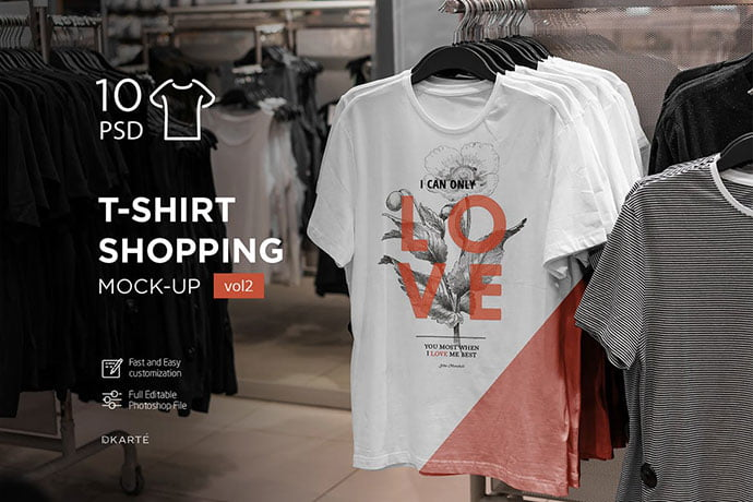 T-Shirt-Shopping-Mock - 38+ Nice PSD Mockups for Your Amazing Projects [year]