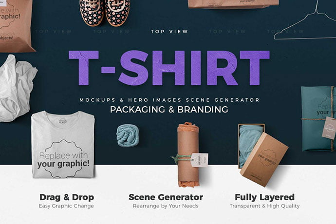 T-shirt - 38+ Nice PSD Mockups for Your Amazing Projects [year]
