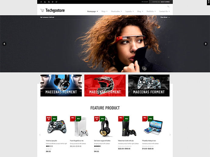 TechGoStore - 33+ Lovely Outdoor Gear WordPress Themes [year]