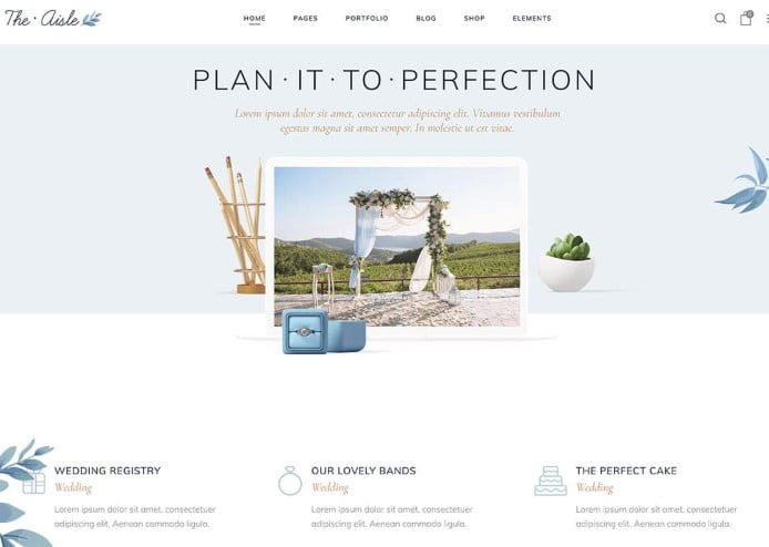 The-Aisle - 35+ Nice WordPress Wedding Planner Themes [year]