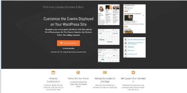 The-Events - 28+ 100% Free Booking & Scheduling WordPress Plugins [year]