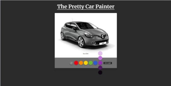 The-Pretty-Car-Painter - 38+ Awesome 100% Free Web Color Picker Designs [year]