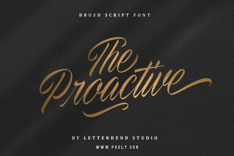 The-Proactive-Script-Font - 53+ Best Free Calligraphy & Hand Lettering Fonts [year]