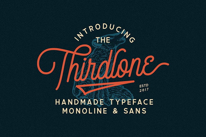 Thirdlone - 53+ Nice T-shirt Design Hand Lettering Fonts [year]
