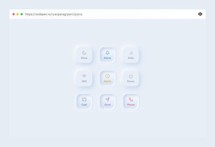 Toggles - 38+ BEST Free CSS Neomorphic UI Design IDEA [year]