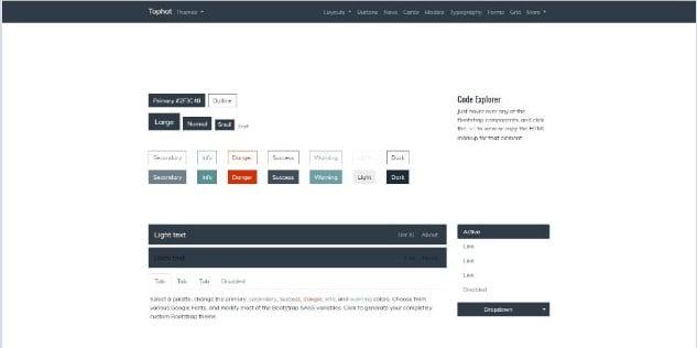 Tophat - 38+ Amazing 100% Free Bootstrap Web UI KIT [year]