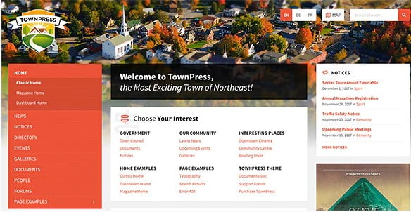 TownPress - 35+ Awesome WordPress Government Themes [year]