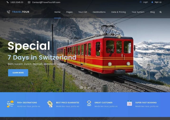 Travel-Tour - 37+ Awesome WordPress Booking Themes [year]