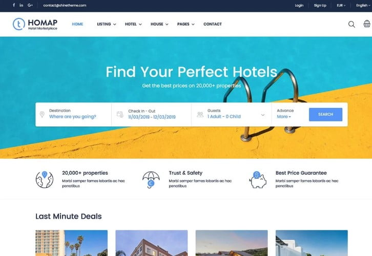 Traveler - 37+ Awesome WordPress Booking Themes [year]
