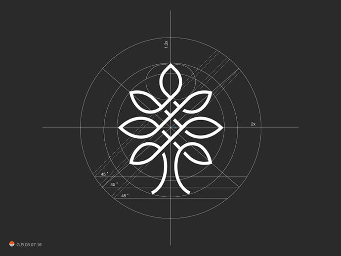 Tree-Grid - 38+ Excellent BEST Free Logo Grids Sample [year]