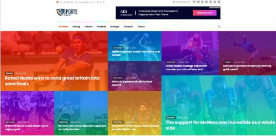 TrendyMag - 42+ Amazing Sport Magazine WordPress Themes [year]