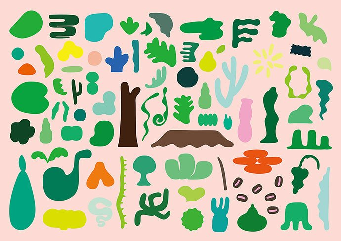 Tropical-Deli-Cafe - 38+ Awesome BEST Free Organic Shapes Poster Design [year]