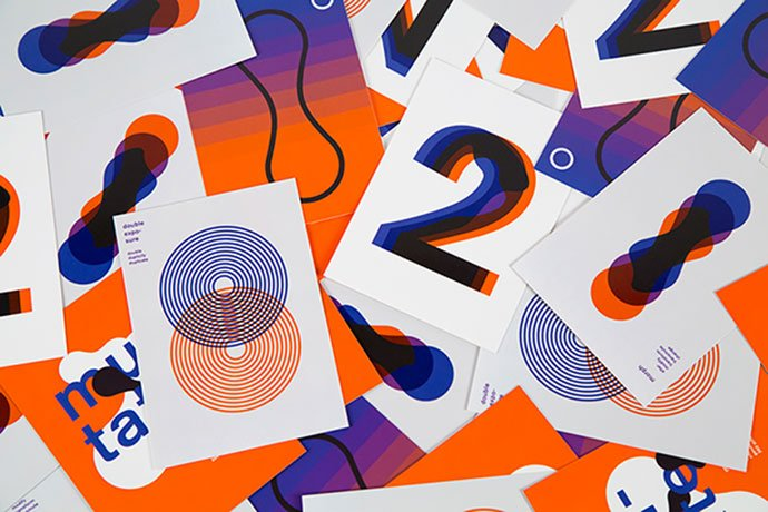 Twinning - 38+ Awesome BEST Free Organic Shapes Poster Design [year]