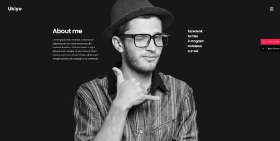 Ukiyo - 33+ Creative WordPress Themes With About Me Page [year]