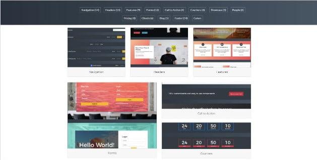 UnderExpress - 38+ Amazing 100% Free Bootstrap Web UI KIT [year]