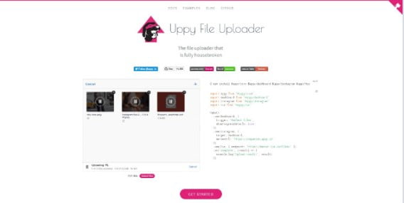 Uppy - 33+ Important BEST Free File Upload Script Libraries [year]