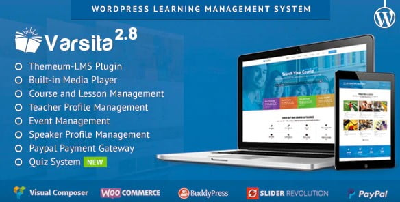 Varsita - 35+ Impressive WordPress Online Course Themes [year]