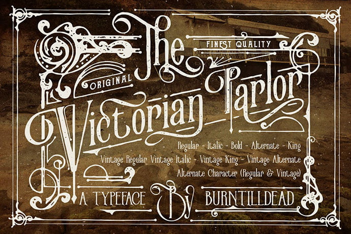 Victorian-Parlor - 38+ Beautiful Fonts For Graphic Design [year]