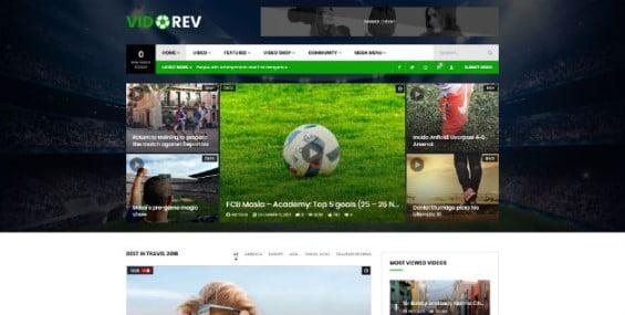 VidoRev - 42+ Amazing Sport Magazine WordPress Themes [year]