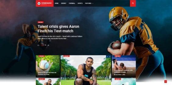 Vinkmag - 42+ Amazing Sport Magazine WordPress Themes [year]