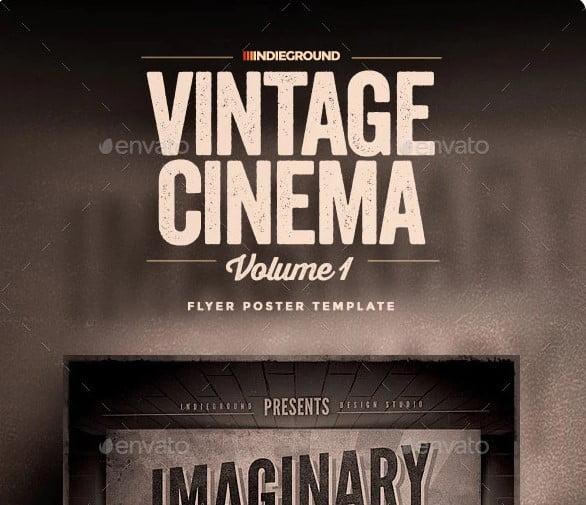 Vintage-Cinema - 39+ Best BEST Free Retro & Vintage Movie Design [year]