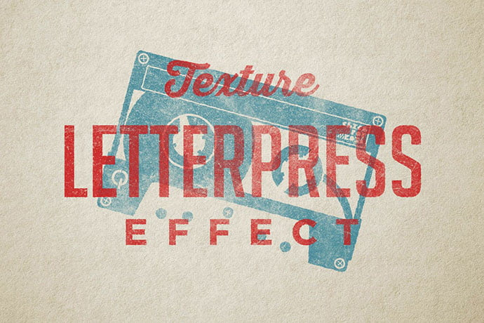 Vintage-Letterpress - 33+ Nice Retro Vintage Photoshop Text Effects [year]